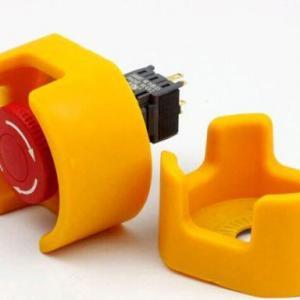 Botão de emergência com proteção